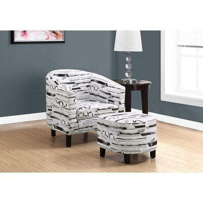 Morden Slipper Chair and Ottoman