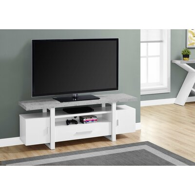 MontBlue 60 TV Stand Color: White