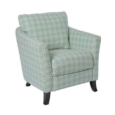 Angled Kaleidoscope Armchair Upholstery: Faded Green