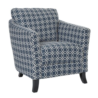 Angled Kaleidoscope Armchair Upholstery: Dark Blue
