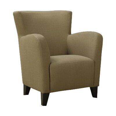 Linen Armchair Upholstery: Brown