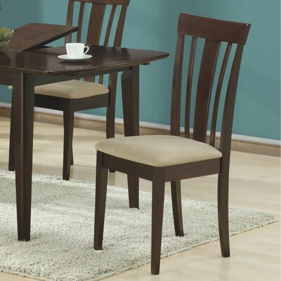 Microfiber Side Chairs in Cappuccino (Set of 2)