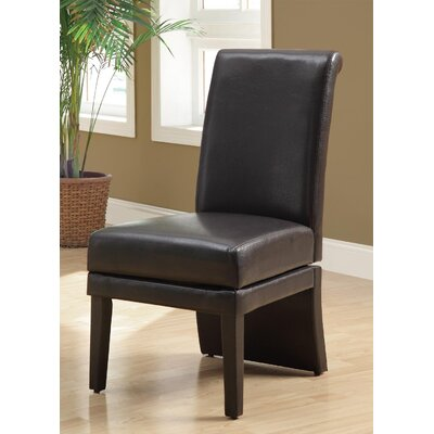 Swivel Leather Parsons Chair