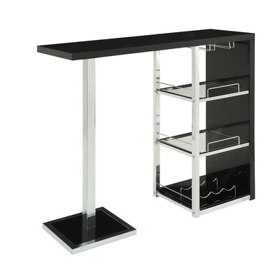 Rent Bar Table Finish: Glossy Black...