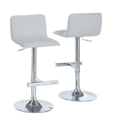 Adjustable 25 Swivel Bar Stool Upholstery: White