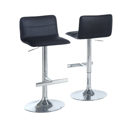 Adjustable 25 Swivel Bar Stool Upholstery: Black