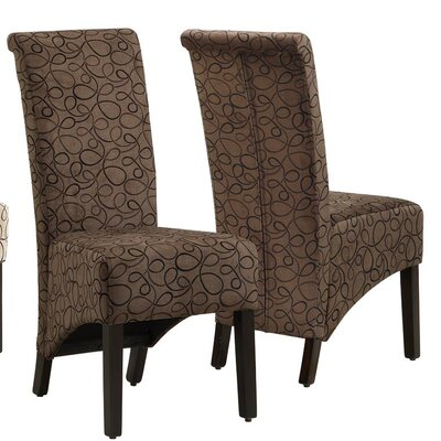 Kimberly Parsons Chair Upholstery: Brown