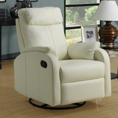 Manual Rocker Recliner Upholstery: Ivory