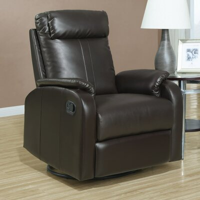 Manual Rocker Recliner Upholstery: Dark Brown