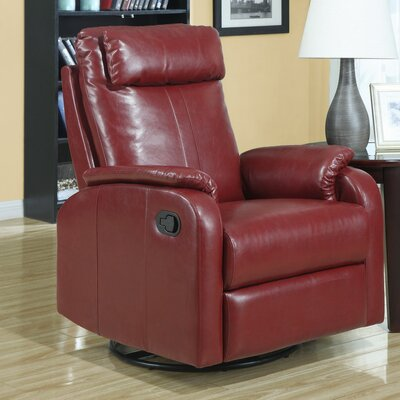 Manual Rocker Recliner Upholstery: Red