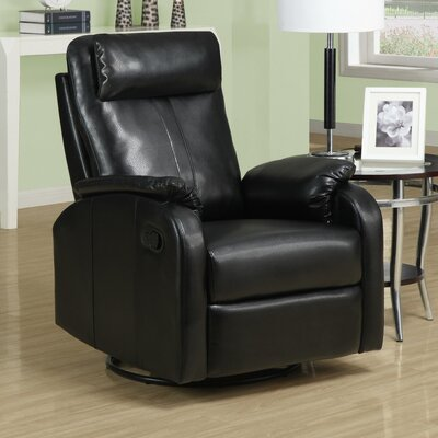 Chaise Recliner Upholstery: Black