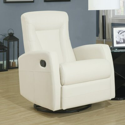 Manual Rocker Recliner Upholstery: Cream