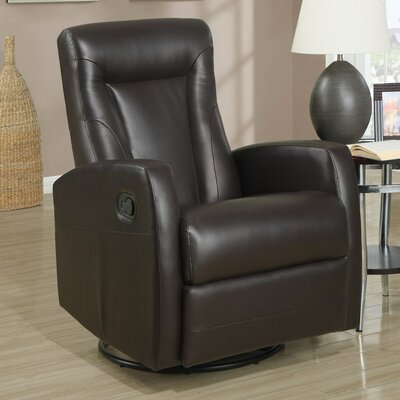 Chaise Recliner Upholstery: Dark Brown