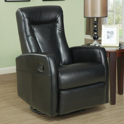 Manual Rocker Recliner Upholstery: Black