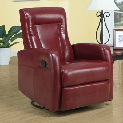 Chaise Recliner Upholstery: Red