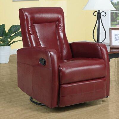 Manual Rocker Recliner Upholstery: Red
