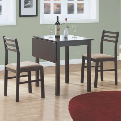 3 Piece Dining Set Finish: Cappucinno