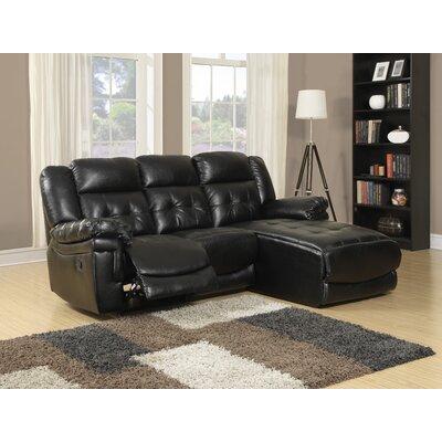 Sectional Upholstery: Black I 8186BK
