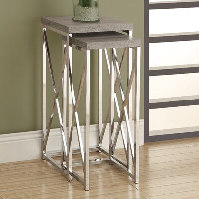 2 Piece Nesting Plant Stand Set Finish: Dark Taupe