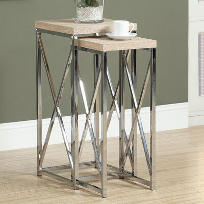2 Piece Nesting Plant Stand Set Finish: Natural