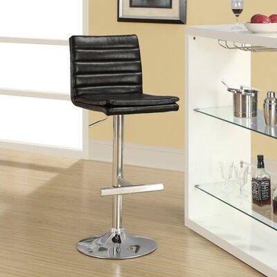 Adjustable Height Swivel Bar Stool Upholstery: Dark Brown