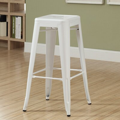 30 Bar Stool Upholstery: White Glossy