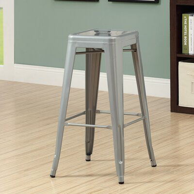 30 Bar Stool Upholstery: Silver Galvanized