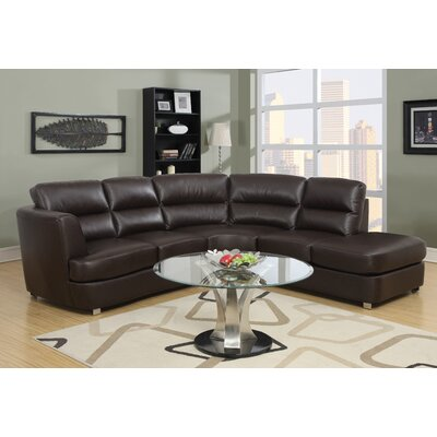 Sectional Upholstery: Dark Brown