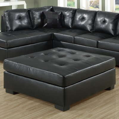 Surratt Cocktail Ottoman Upholstery: Black
