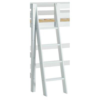 Leiter schräg in Weiß für mittelhohes- und Etagenbett | Kinderzimmer > Kinderbetten > Etagenbetten | White | Holz | Hoppekids