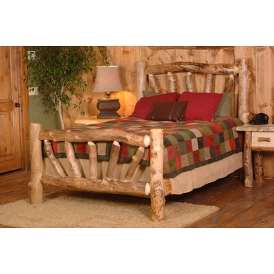 Furniture financing Hobble Creek Slat Bed Finish: Natur...