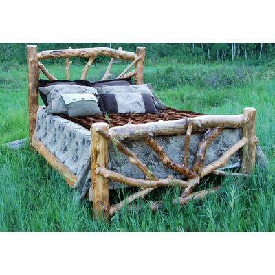 Rent to own Woods Cross Slat Bed Finish: Natura...