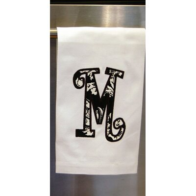 Egyptian Quality Cotton Huck Christmas Hand Towel Letter: M