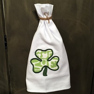 Egyptian Quality Cotton Huck Holiday Applique Shamrock Hand Towel