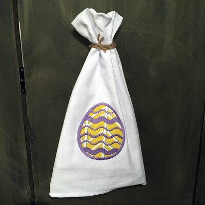 Egyptian Quality Cotton Huck Holiday Applique Easter Egg Hand Towel