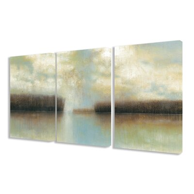 'Winter Solace' 3 Piece Painting Print on Canvas Set