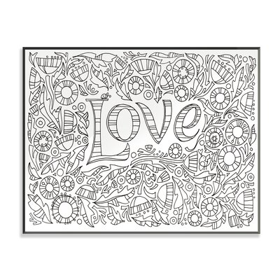 DIY Coloring Wall Plaque Garden of Love Graphic Art