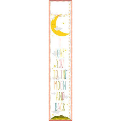 Stupell Industries The Kids Room I Love You To The Moon and Back Growth Chart gc-459