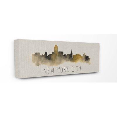 'New York City Skyline Silhouette' Graphic Art Canvas