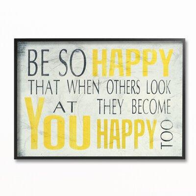 Be So Happy Wall Decor