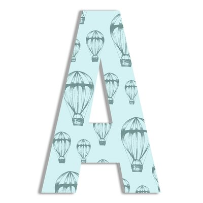 Hot Air Balloon Oversized Hanging Initial ohi-134-b