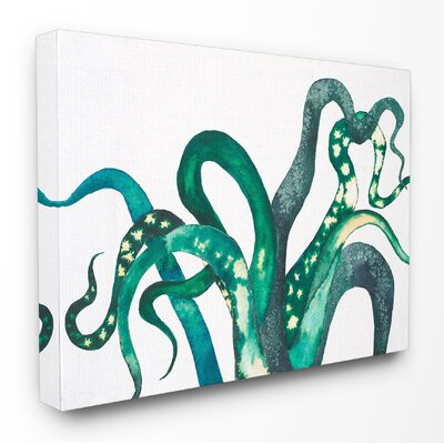Tillandsia Illustration Stretched Canvas Wall Art Size: 16