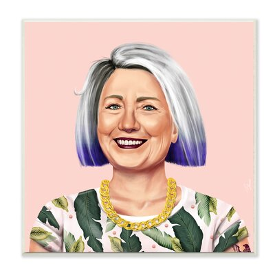 Hipstory Hipster Hillary Clinton Wall Plaque Art