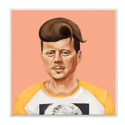 Hipstory Hipster JFK John F. Kennedy Wall Plaque Art