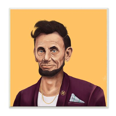Hipstory Hipster Abraham Lincoln Wall Plaque Art