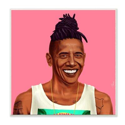 'Hipstory Hipster Barack Obama' Graphic Art Print VRKG2973 40678622