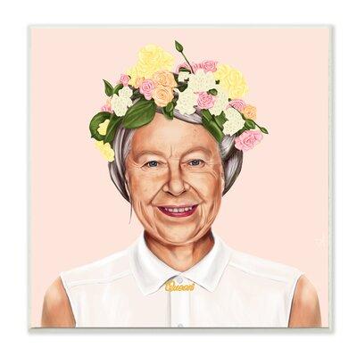 'Hipstory Hipster Queen Elizabeth' Graphic Art Print Format: Plaque, Size: 12