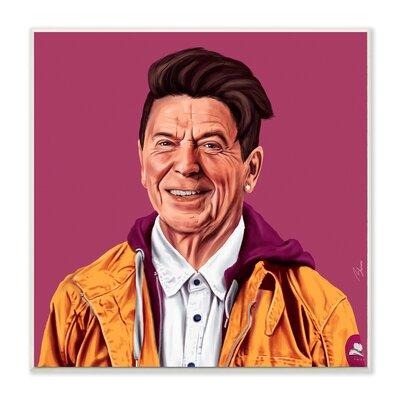 Hipstory Hipster Ronald Reagan Wall Plaque Art