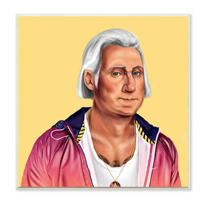 Hipstory Hipster George Washington Wall Plaque Art
