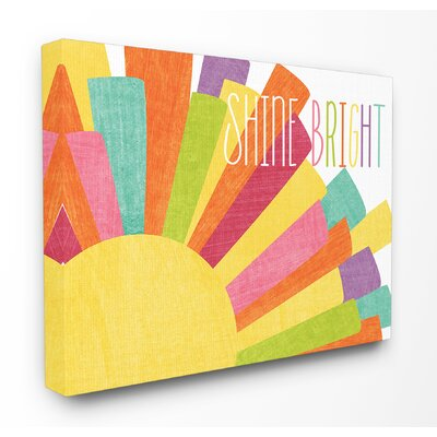 'Shine Bright Colourful Sun' Graphic Art Print HBEE1438 39062395